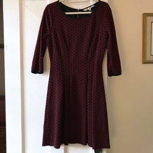 Max Studio Red & Black Dress